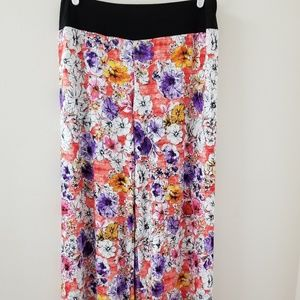 Palazzo Pants in Colorful Floral by Ashley Blue XL